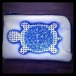 Turtle zippered change purse